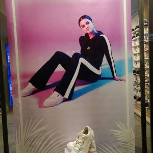 10 November posters with selena at the Puma Store in Torino, Italy