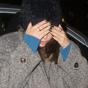12 December Selena arriving at her hotel in Paris
