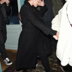 10 December Selena leaving Y Ming restaurant in London, UK