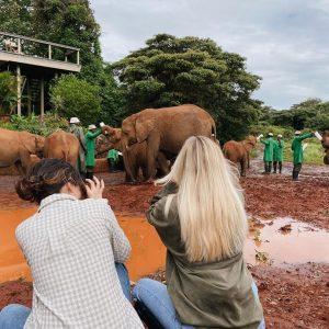"""11 December Selena last week at """"Sheldrick Wildlife Trust"""" inNairobi, Kenya"""