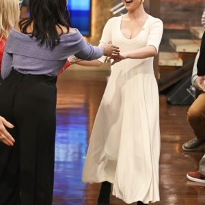 "13 January new pic of Selena from apparance on the ""Live with Kelly and Ryan"" in New York"