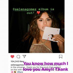 10 January Selena on Instagram Stories