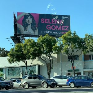 10 January promo billboard with Selena in Los Angeles