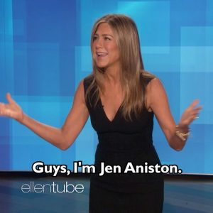 23 January @theellenshow on Instagram: Tomorrow, my friend @JenniferAniston steals my show
