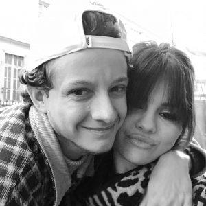 14 January Selena with a fan in Paris last December