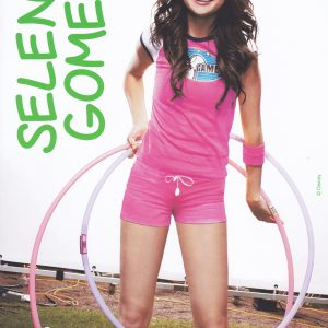 26 January check out new cute poster of Selena from photoshoot for Pop Star Magazine at the Disney Games in 2008