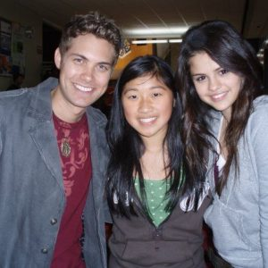 28 February new pics of Selena with Drew Seeley and fans on set of Another Cinderella Story in 2008
