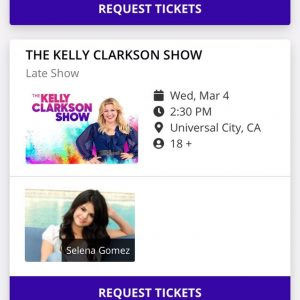 13 February Selena is set to appear on The Kelly Clarkson Show in March