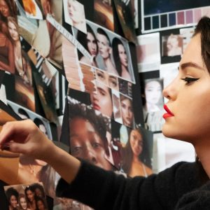 27 February new pic of Selena from making the Rare Beauty