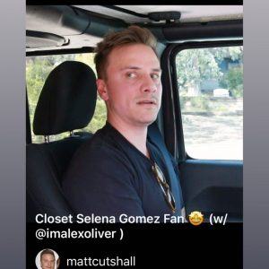 9 March Selena shared in her Instagram story funny video from Matt Cutshall