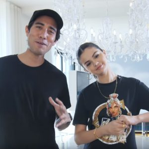 13 March go behind the scenes of Tik Tok video with Zach King and Selena