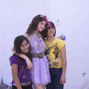 12 April new pics of Selena with fans from Teen Vogue photoshoot and Radio Disney