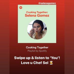 23 April Selena on Instagram Story