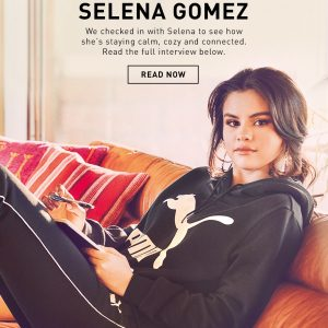 "6 May check out ""At Home With Selena"" interview by Puma"