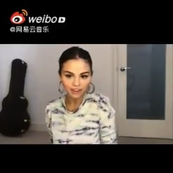 26 June Selena's messages for fans on QQ Music and NetEse Cloud Music