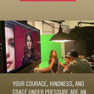 22 July Selena in Alek Keshishian's Instagram story