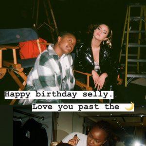 22 July Charm La'Donna wished Selena A Happy Birthday via Instagram story