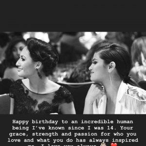 27 July Selena wished her BFF Francia Raisa a Happy birthday on Instagram Story