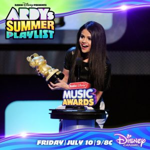 9 July Selena will be presending RDMA's Summer Playlist tomorrow on Disney Channel