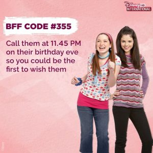 1 August @disneyinthd on Instagram: Codes to live by with your BFF!😏