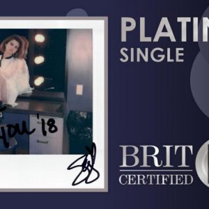 7 August Back To You is now platinum in the UK