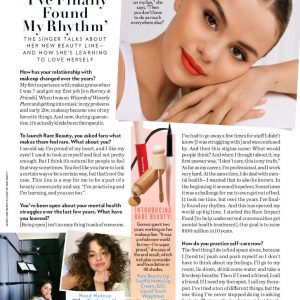 8 September new article about Selena and Rare Beauty in People Magazine