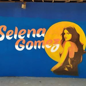22 september check out wall graffiti for one of Selena's upcoming projects