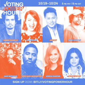 18 October Selena on Twitter: Text your friends about making a voting plan!