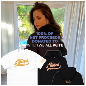 30 October Selena on Twitter: Make your voice heard and VOTE
