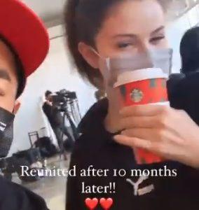 16 November Selena in Hung Vanngo's Instagram story