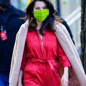 "7 December Selena spotted on set of ""Only Murders In The Bulding"" in New York"