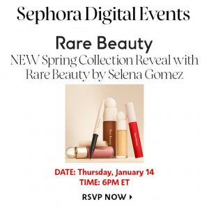 3 January new Rare Beauty collection will be presented on 14 January at the special online event