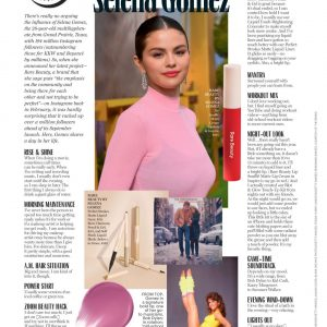 3 January new article with Selena in Marie Claire USA