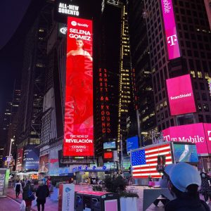 27 January check out Revelacion poster on Times Square in New York