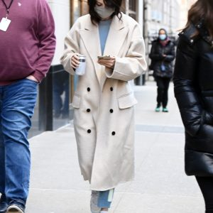 17 January Selena on set of Only Murders In The Building in New York