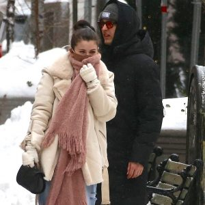 3 February new candids of Selena leaving set of Only Murders In The Building in New York