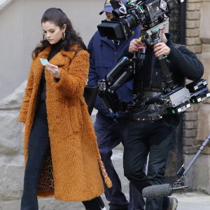 24 February Selena on set of Only Murders In The Building in New York