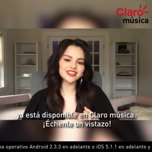 "7 February Selena talks ""Baila Conmigo"" with @claromusicape"