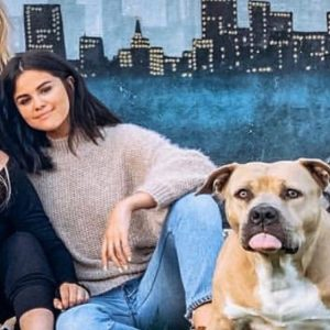 24 February new pic of Selena with adorable puppy