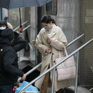 9 February Selena spotted on set of Only Murders In The Building in New York