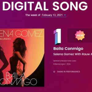 9 February Baila Conmigo debuted from #1 on Billboard Latin Digital Songs Sales