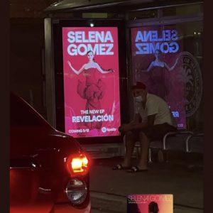 9 February Revelacion promo billboard spotted at the bis stop in Miami
