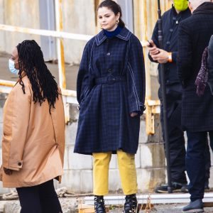 "31 March Selena spotted on set of ""Only Murders In The Building"" in New York"