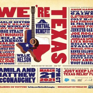 """18 March Selena will make a special appearance at """"We're Texas"""" benefit concert!"""