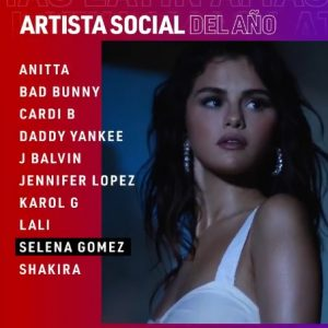 2 March vote for Selena at the Latin American Music Awards 2021!