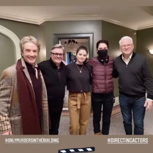 7 April new pic of Selena with the cast of Only Murders In The Building