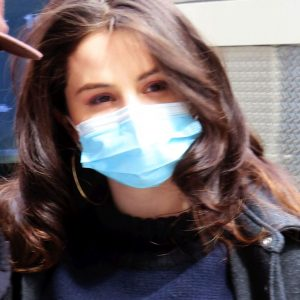 9 April more candids of Selena from set of Only Murders In The Building in New York