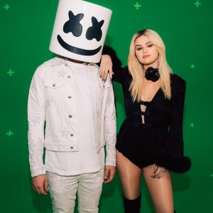29 May Selena with Marshmello on set of UEFA Champions League Finale performance!