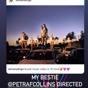23 August Selena shared post from Olivia Rodrigo via Instagram story!